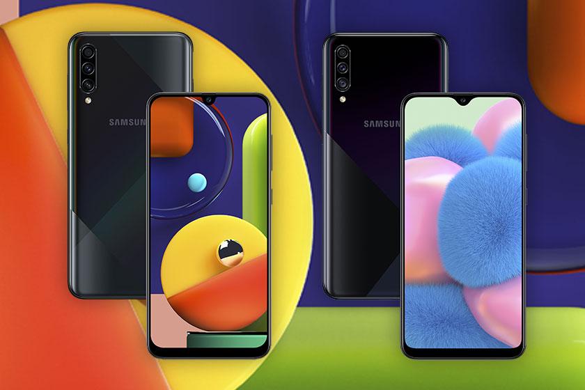 Samsung Galaxy A50s (משמאל) ו-Samsung Galaxy A30s (מימין) (תמונות: סמסונג)
