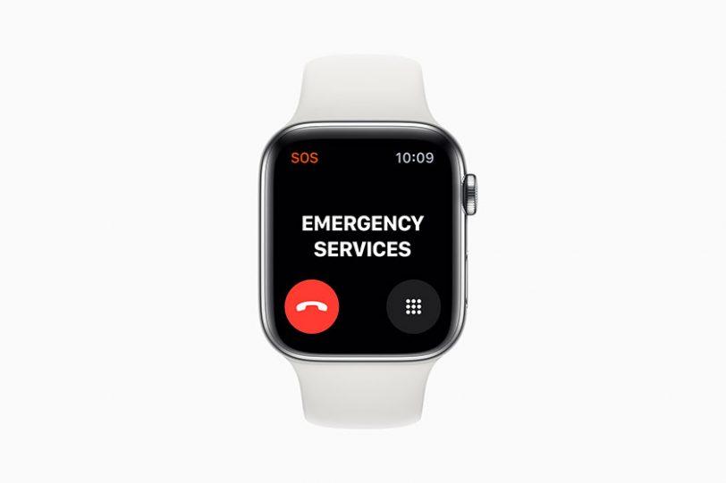 שיחות חירום ב-Apple Watch Series 5 (תמונה: Apple)