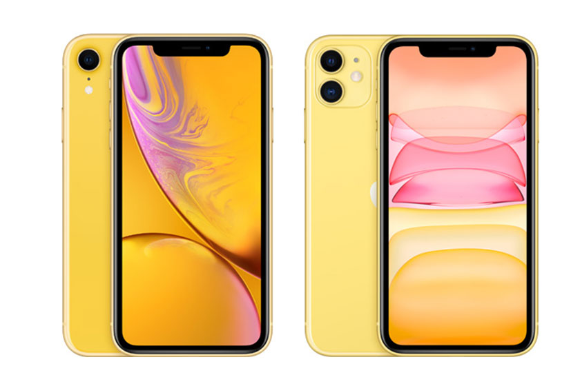 iPhone XR (משמאל) ו-iPhone 11 (מימין) (תמונות: Bestbuy)