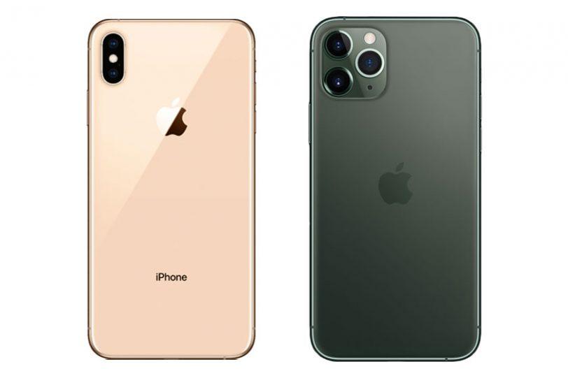 iPhone XS Max (משמאל) ו-iPhone 11 Pro Max (מימין) (תמונות: Apple, Bestbuy)