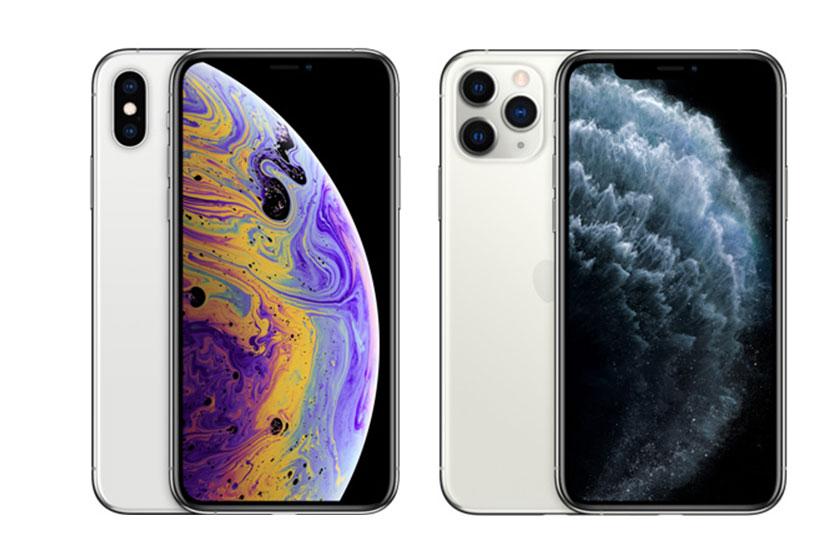 iPhone XS Max (משמאל) ו-iPhone 11 Pro Max (מימין) (תמונות: Apple)