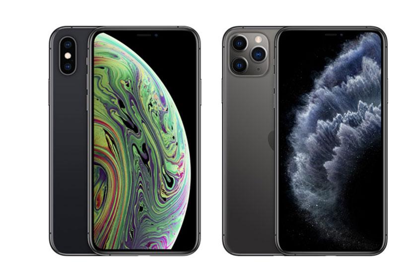 iPhone XS ׁ(משמאל) ו-iPhone 11 Pro (מימין) (תמונות: Apple)