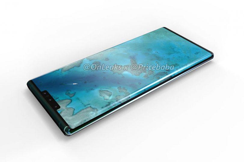 Huawei Mate 30 Pro (הדלפה: OnLeaks / PriceBaba)