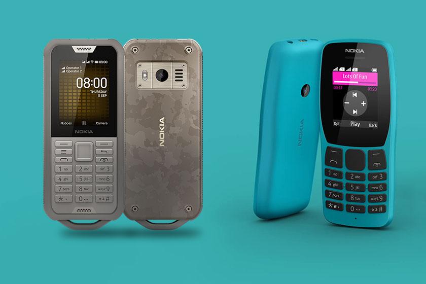 Nokia 800 Tough ו-Nokia 110 (תמונה: נוקיה)