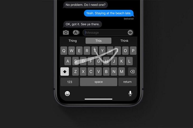 מקלדת Swype ב-iOS 13 (תמונה: Apple)
