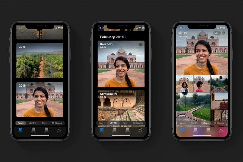 אפליקציית תמונות ב-iOS 13 (תמונה: Apple)
