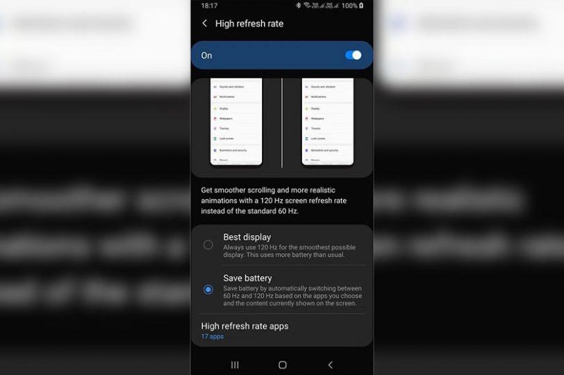 צילום מסך מממשק המשתמש One UI 2 בטא (תמונה: Twitter/OXIR16)