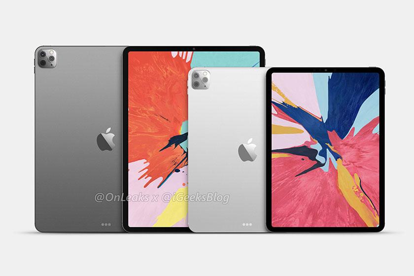 iPad Pro 12.9 2020 (à gauche) et iPad Pro 11 2020 (à droite) (Image: igeeksblog)