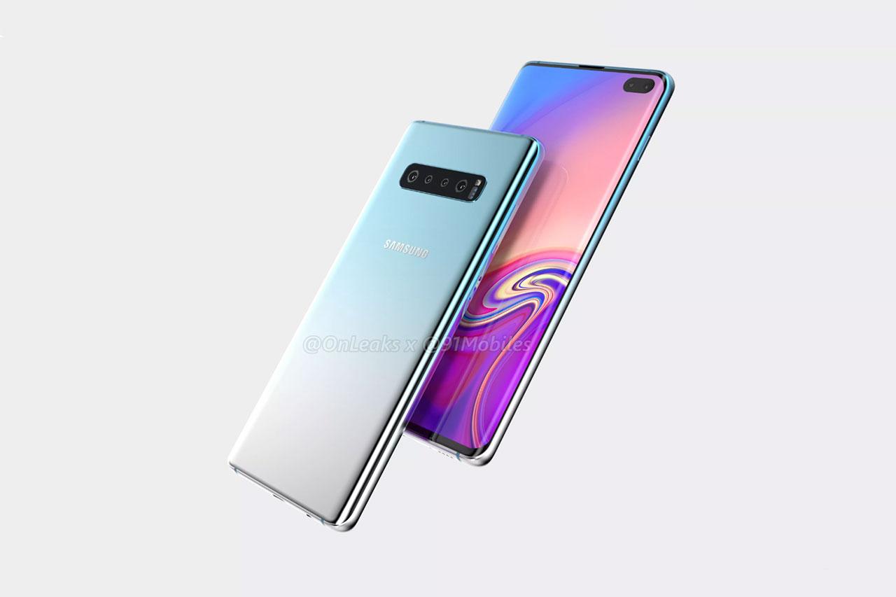 Samsung Galaxy S10 Plus (תמונה: Onleaks / 91Mobiles)