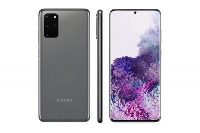 Samsung Galaxy S20 Plus (תמונה: Twitter/Evleaks)
