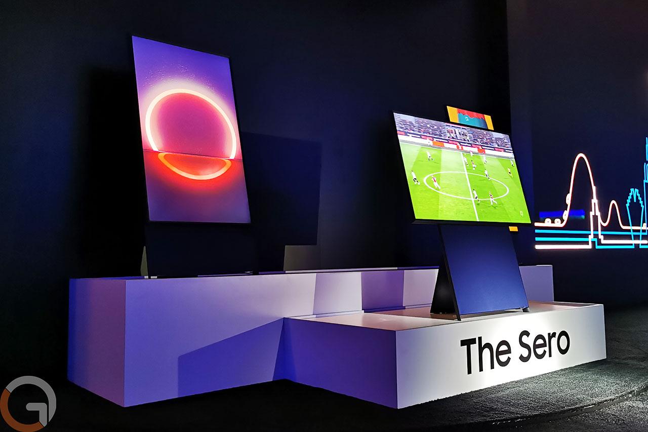 טלוויזיית Samsung Sero (צילום: רונן מנדזיצקי, גאדג'טי)