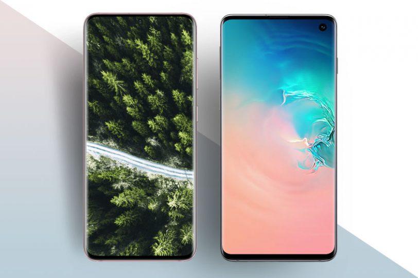 Samsung Galaxy S10 (מימין) ו-Samsung Galaxy S20 (משמאל) (תמונות: סמסונג)