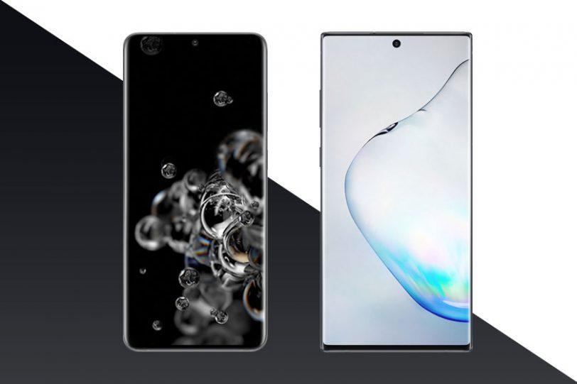 Galaxy Note 10 Plus (מימין) ו-Galaxy S20 Ultra (משמאל) (תמונות: סמסונג)