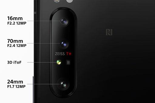 מערך הצילום של Xperia 1 Mark 2 (תמונה: Sony)