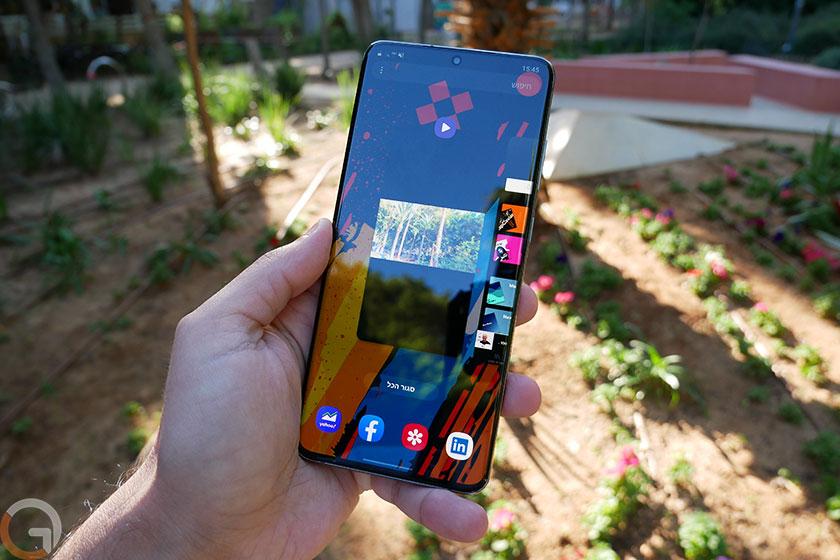 Samsung Galaxy S20 Ultra (צילום: אוהד צדוק, גאדג'טי)