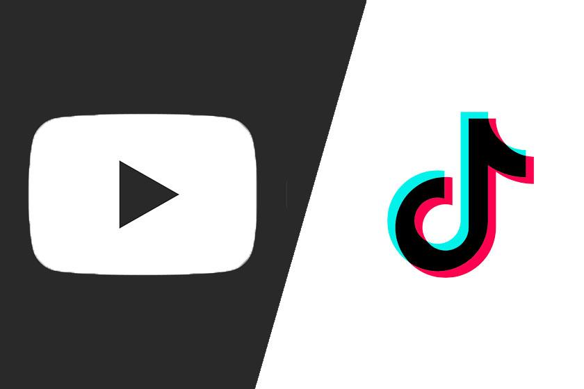 לוגו יוטיוב וטיקטוק
