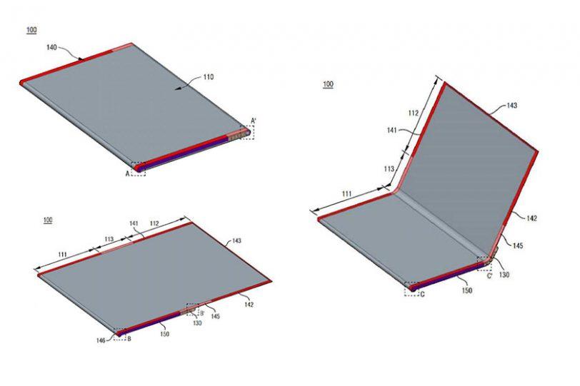 LG Foldable Patent (תמונה: Asia Time)