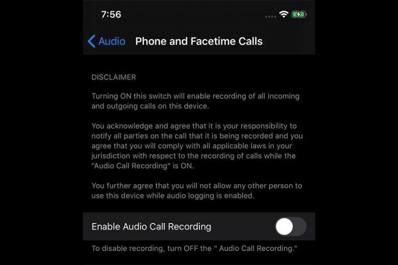 Call Recording in iOS 14 (תמונה: ITHome)