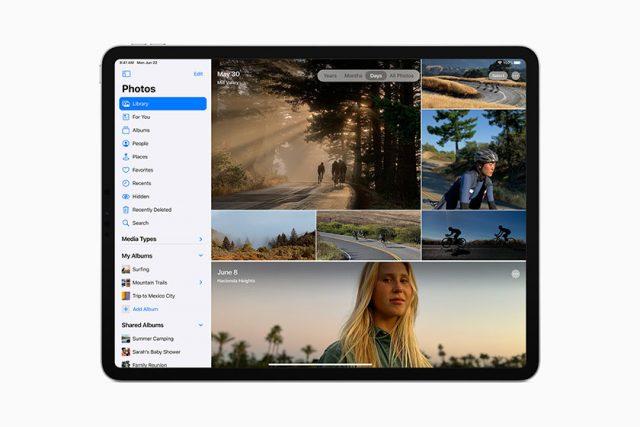 סיידבר ב-iPadOS 14 (תמונה: Apple)