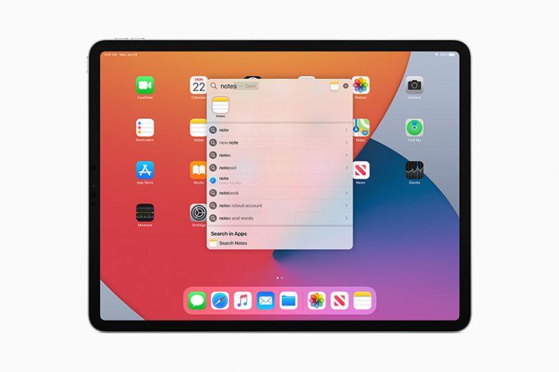 חיפוש אוניברסלי ב-iPadOS 14 (תמונה: Apple)