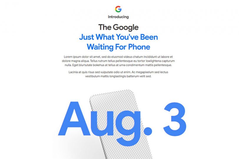 Google Pixel 4a Teaser (תמונה: גוגל)