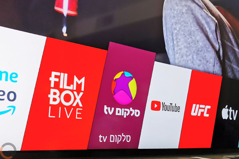 לוגו סלקום tv בטלוויזיה LG