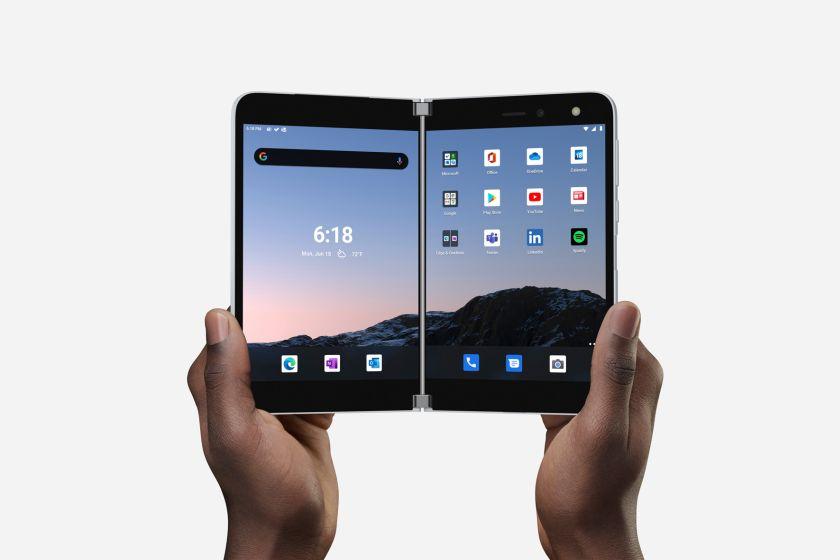 מכשיר Surface Duo (מקור מיקרוסופט)