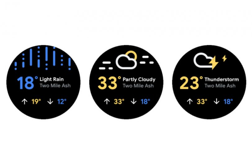 Wear OS Weather App (תמונה: Android Develpers)