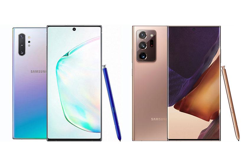 Note 20 Ultra ו-Note 10 Plus (תמונות: Samsung)