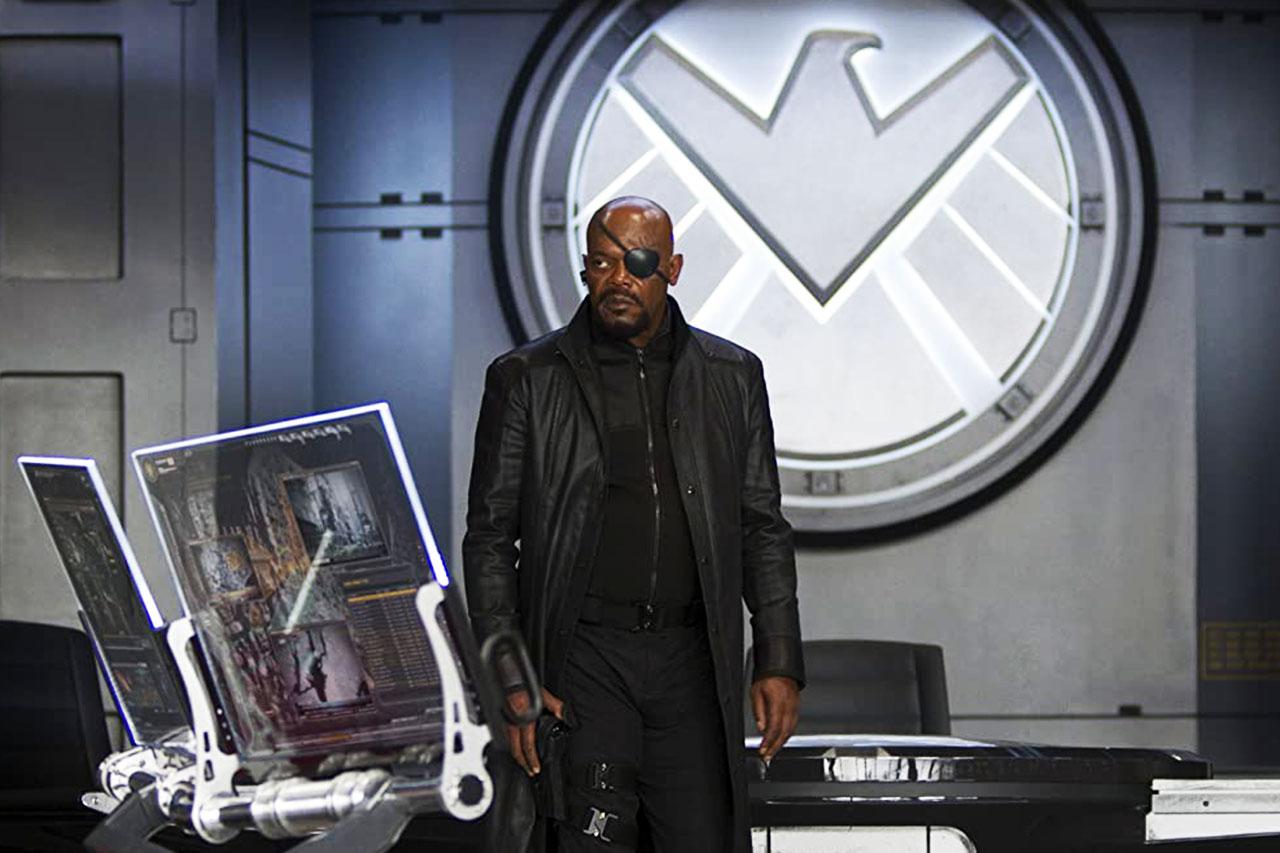 """סמואל ל. ג'קסון כ""""ניק פיורי"""" מתוך """"הנוקמים"""" (תמונה: Marvel)"""