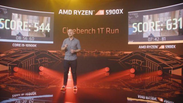 ביצועי ליבה בודדת ב-RT20 (מקור AMD)
