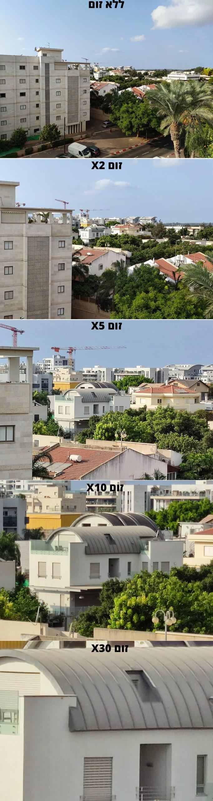 השוואת רמות זום דיגיטלי (צילום: רונן מנדזיצקי)