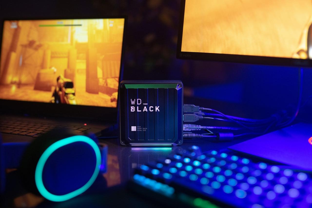 כונן ה-WD_BLACK D50 Game Dock NVMe SSD (מקור WD)