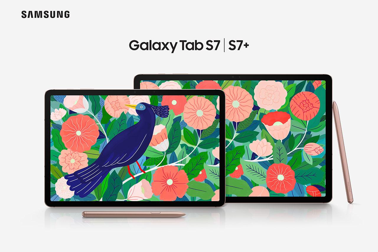 Galaxy Tab S7 ו-Tab S7 Plus (תמונה: Samsung)