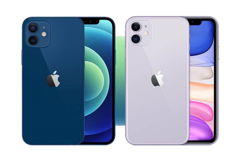 אייפון 11 (מימין) ואייפון 12 (משמאל)