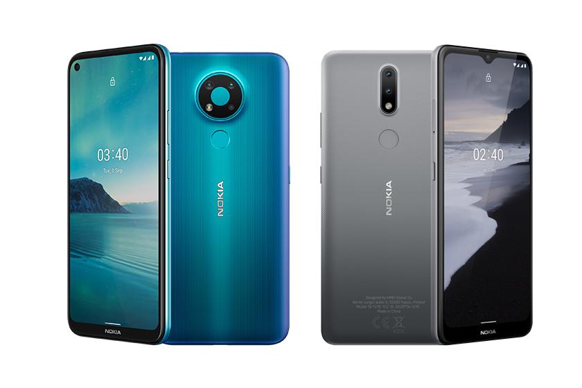 "Nokia 3.4 ו-Nokia 2.4 (תמונות: יח""צ HMD Global)"