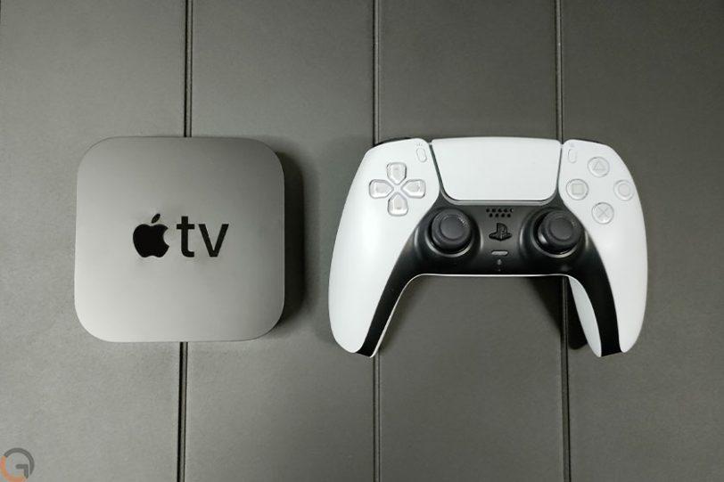 Apple TV ובקר פלייסטיישן (צילום: רונן מנדזיצקי)