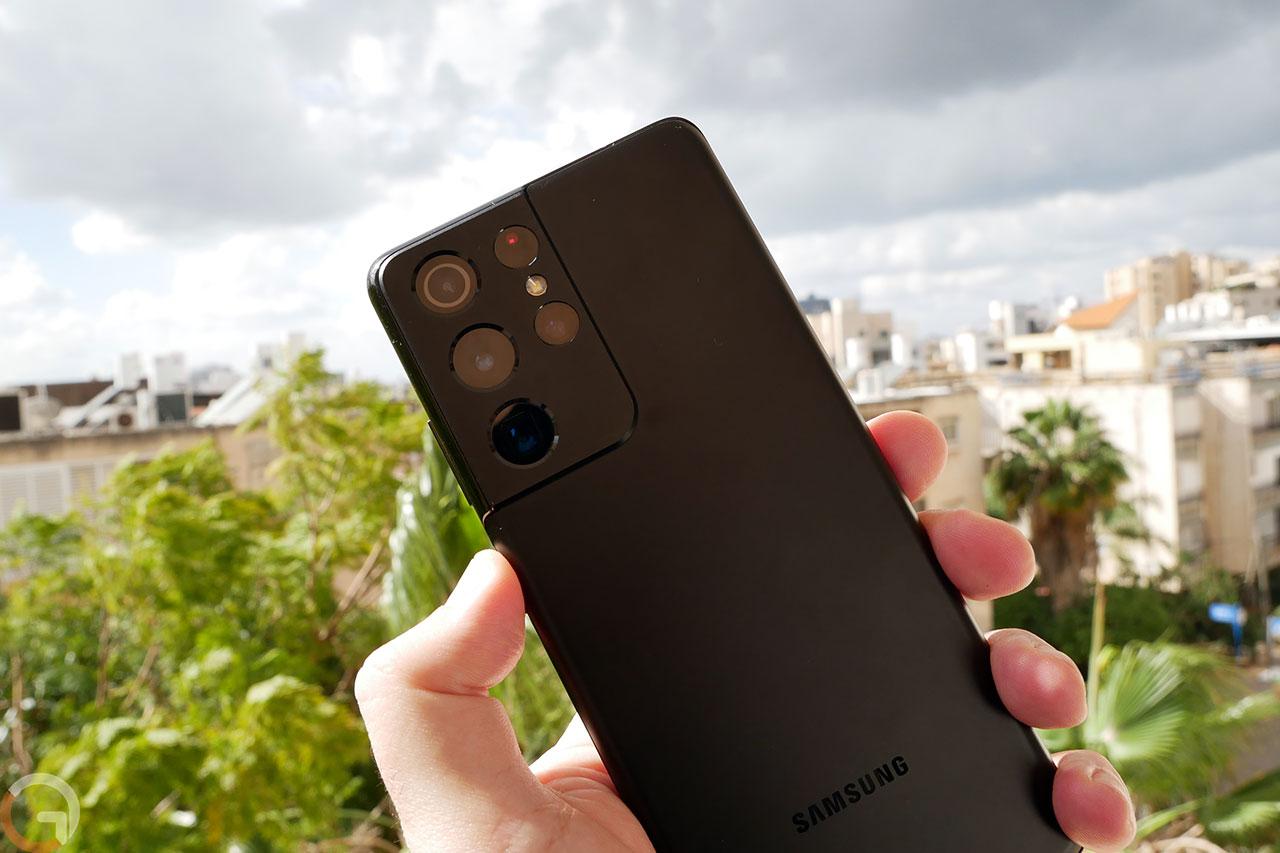 Galaxy S21 Ultra 5G (צילום: רונן מנדזיצקי)