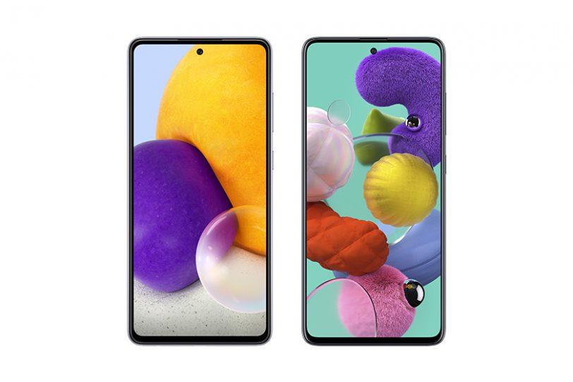 Galaxy A71 (מימין) מול Galaxy A72 (משמאל) (תמונה: סמסונג)