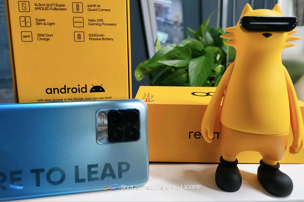 קופסת ה-Realme 8 (תמונה: Realme)