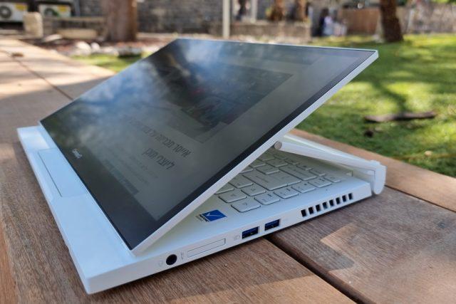 נייד ConceptD 3 Ezel - מצבי מסך (צילום: יאן לנגרמן, גאדג'טי)