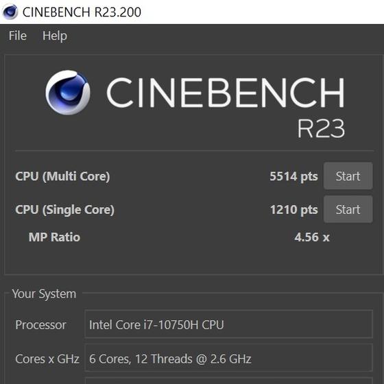 מבחן ביצועים Cinebench R23