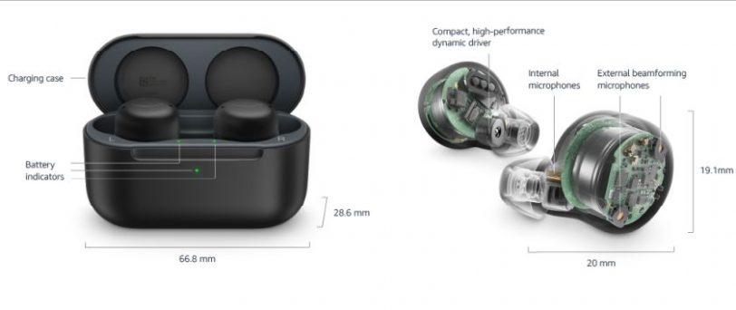 מידות אוזניות Echo Buds דור 2 (מקור אמזון)