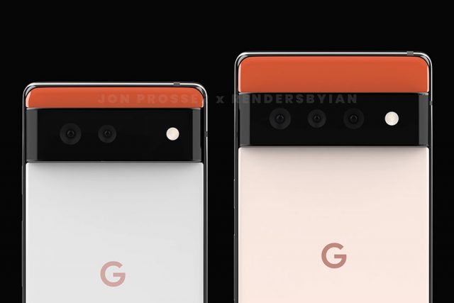 Google Pixel 6 & Pixel 6 Pro (תמונה: Jon Prosser)