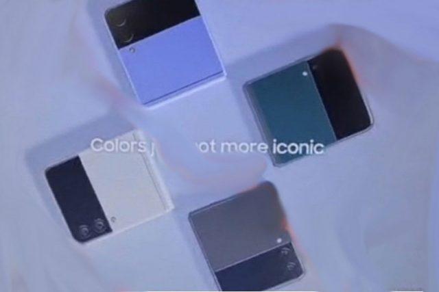Samsung Galaxy Z Flip 3 (תמונה: Twitter/FrontTron)