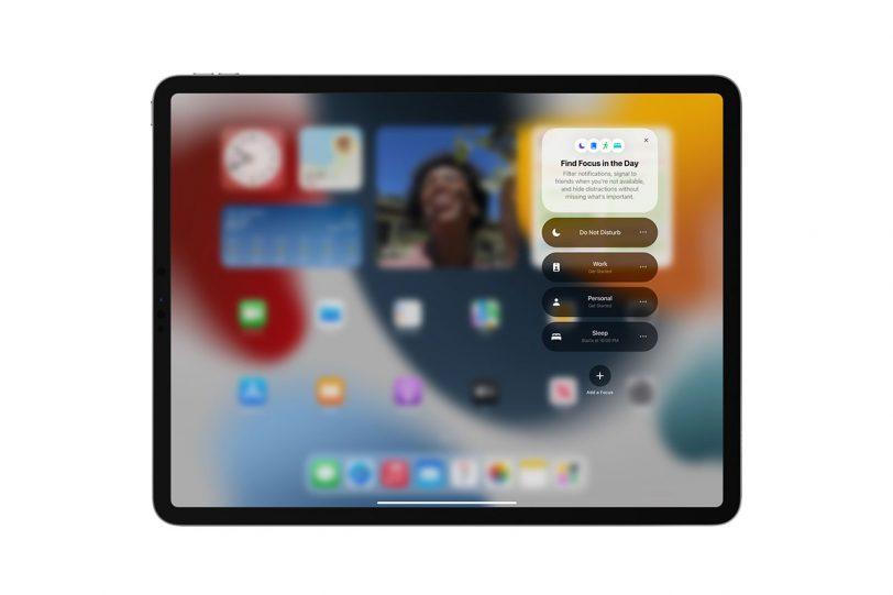 Focus ב-iPadOS 15 (תמונה: Apple)