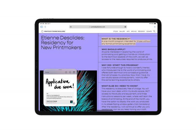 פתקים ב-iPadOS 15 (תמונה: Apple)
