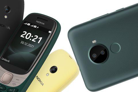 Nokia C30 (מימין) ו-Nokia 6310 (משמאל) (תמונה: נוקיה)