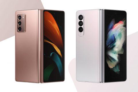 Galaxy Z Fold 3 (מימין) ו-Galaxy Z Fold 2 (משמאל) (תמונות: סמסונג)