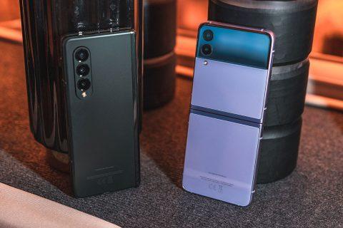 Samsung Galaxy Z Flip 3 ו-Z Fold 3 (צילום: אופק ביטון, גאדג'טי)